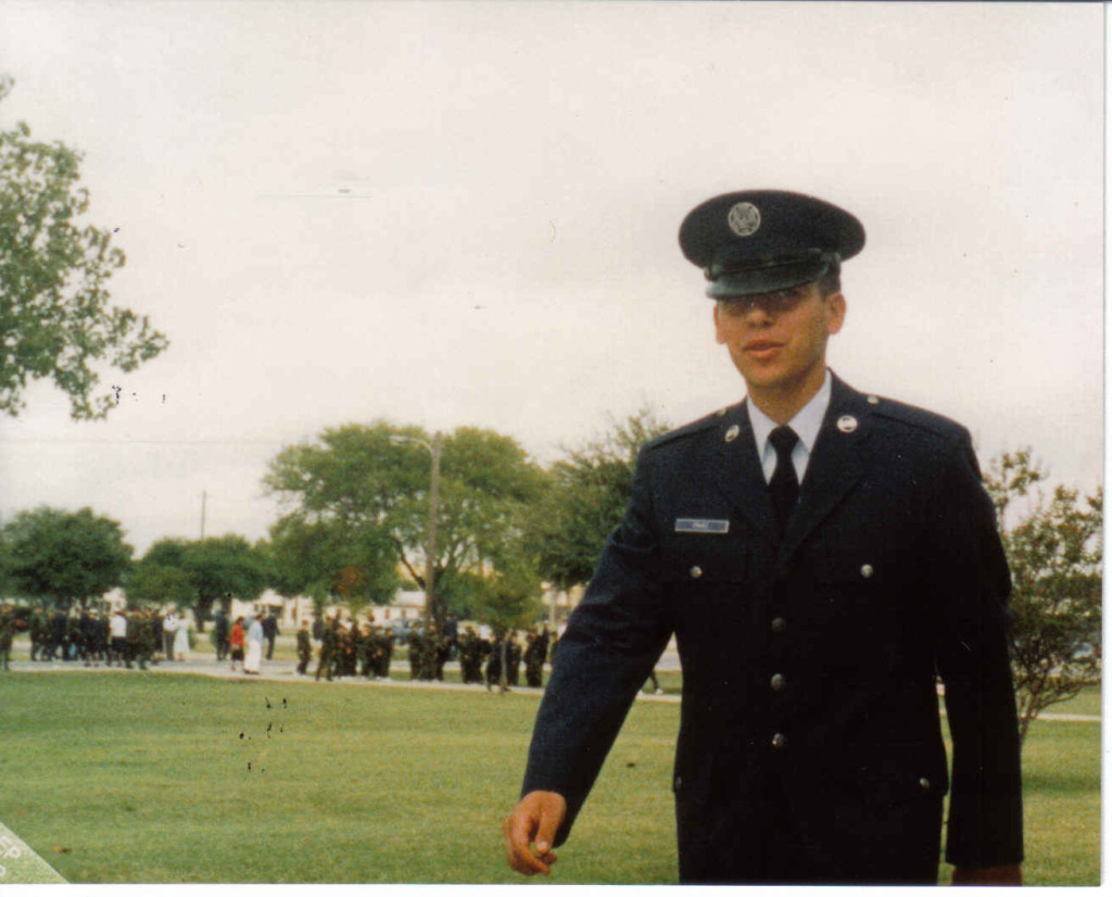 That's me during basic training in 1992 at Lackland Air Force Base in Texas. I served from 1992-2003 as a Air Cargo Specialist and Manpower Analyst.