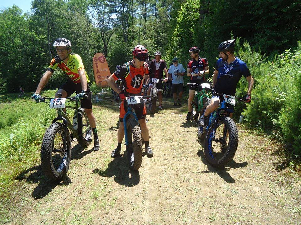 That's me on the right side racing the Fat Bike Class in Ware, MA. I race mountain bikes (cross country) and ride road bikes with the Narragansett Bay Wheelmen.
